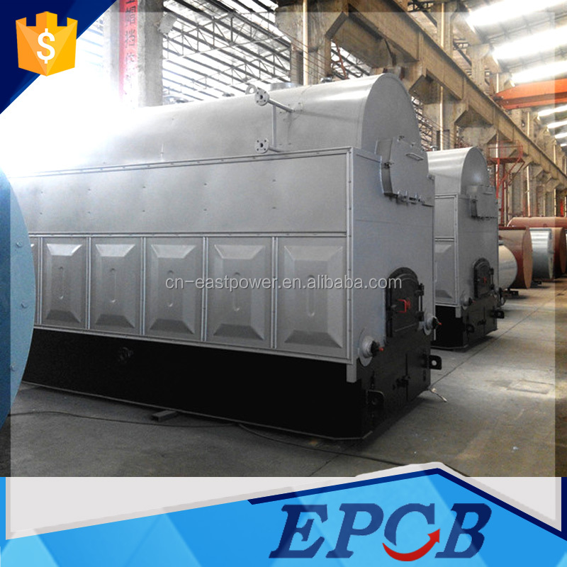 Horizontal drums low pressure easy control wood high efficiency boiler