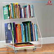Clear Acrylic hanging Wall Cube Shelves 30x30x20 Lucite Wall Mounted Book Shelf