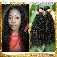 2015 fashion wholesale unprocessed kinkly curly virgin hair extensio shedding free 100% brazilian virgin hair