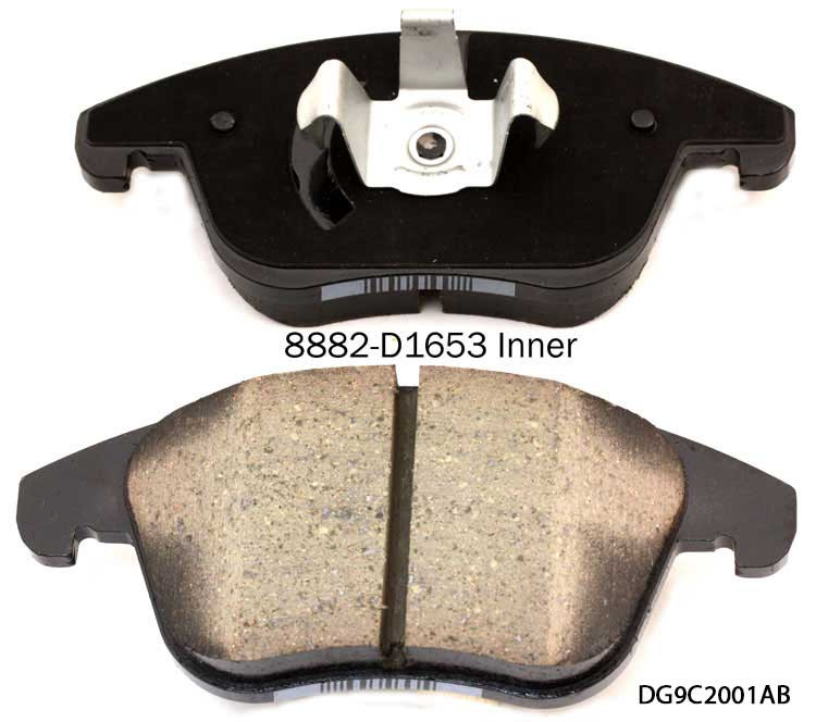 Factory price D1653 Brake pads and rotors with good