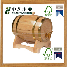 2016 year china factory FSC&SA8000 3L OAK gift wooden wine beer barrel