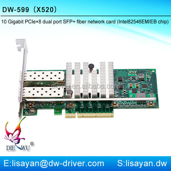 10g fiber optic dual sfp port PCI-e 8x network adapter