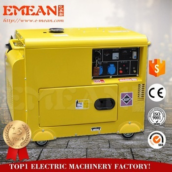 Portable Super Silent / Open type 4.5kva diesel electric generator for home use