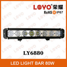 Direct factory price 15 inch 80W LED light bar offroad 20w 40w 60w 80w led light bar for jeep truck 80w led light bar