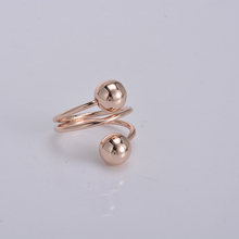 Wholesale costume jewelry rose gold tone base metal brass latest wire ring with ball end designs