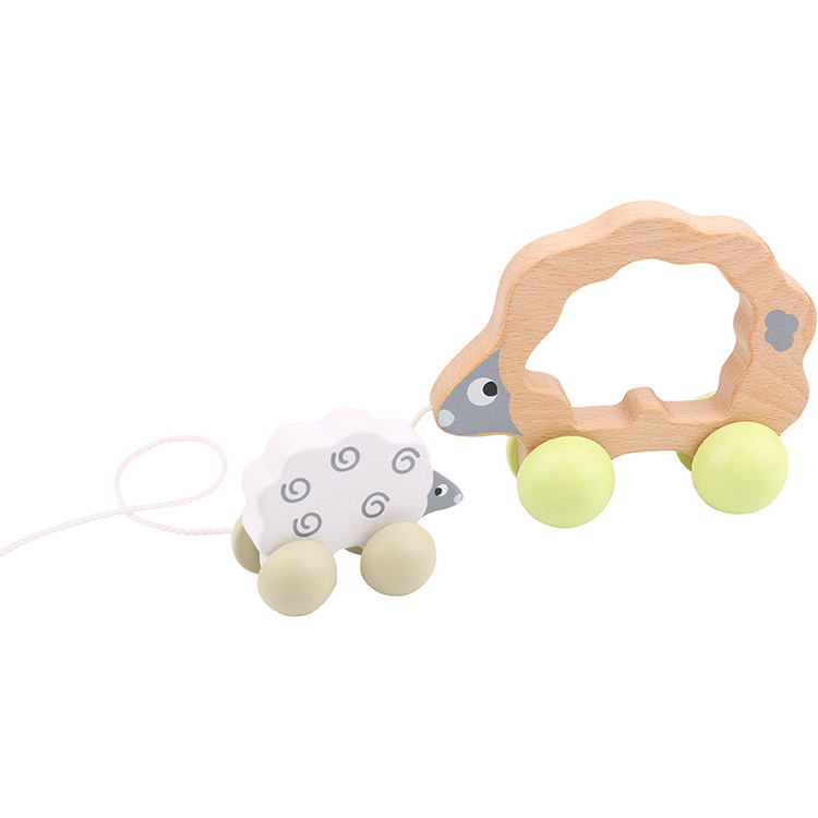 Lovely Top Sale Pull Along - Sheep Wooden Toy for Kids