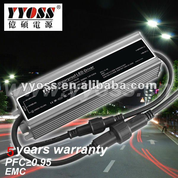 waterproof electronic led driver 150W for flood lighting 3-5 years warranty