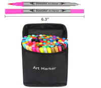 Best selling 100 Colors Dual Tip Brush Pens Art Markers