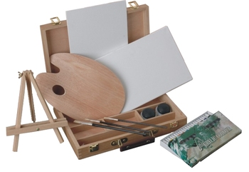 Easel & Sketch Box Painting Set