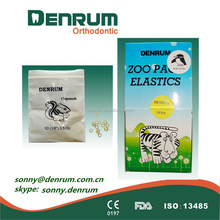 orthodontic elastic rubber bands zoo pack