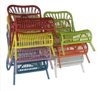 colorful wicker chair