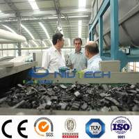 High oil output! Safety 100% continuous waste tyre recycling machine with CE