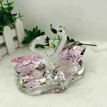 New Products Best wedding gifts Double Crystal Swan