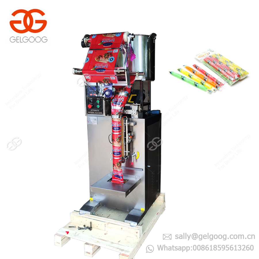 High Speed Liquid Honey Stick Packaging Filling Sealing Ice Pop Candy 3 Sides Sealing Honey Ice Lolly Packing Machine