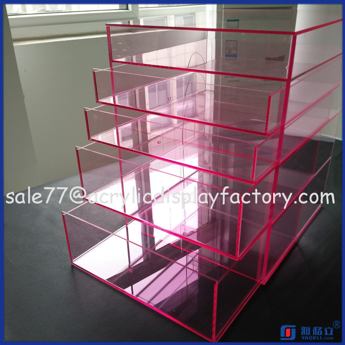 wholesale custom cosmetic beauty clear acrylic makeup storage,storage organizer for girls