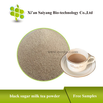 Natural pure black sugar milk tea powder mix for sale
