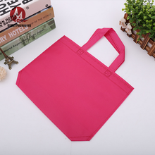 Customized logo PP raw material fabric laminated shopping non-woven tote bag for gift