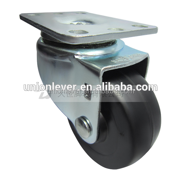 Swivel 3 inch solid small rubber wheels plate horse carriage solid rubber wheels type caster