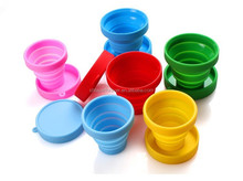 food grade BPA and phthalate free collapsible silicone travel cup for men and women