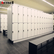 Amywell Top quality antique white two door HPL laminate melamine lockers