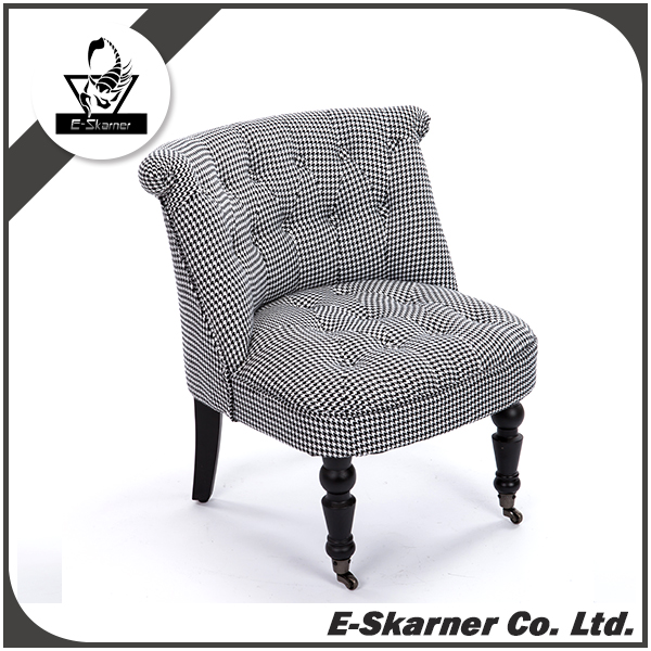 E-Skarner grey modern simple design sofa furniture chair with movable wheels