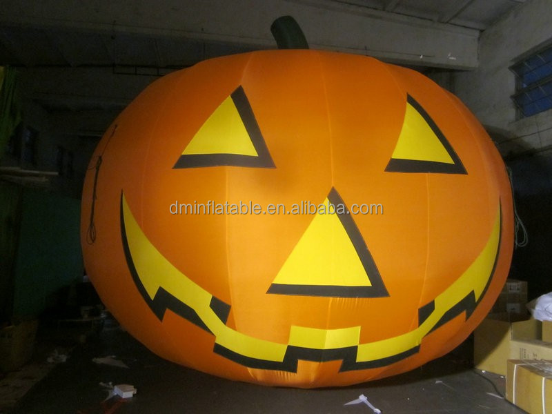 customized new style giant inflatable halloween pumpkin light decorations