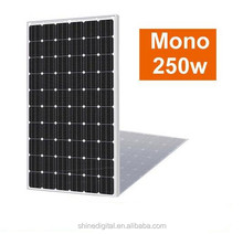 monocrystalline photovoltaic cell solar panel 250 watt with factory price