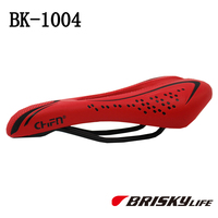 Soft red bike seat for mtb and road bicycles