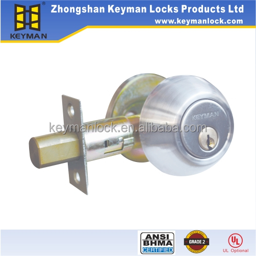 ANSI Grade 2 Security Entry Door Locks And Deadbolts Door Hardware Brass Dedabolt Latch in Satin Nickel