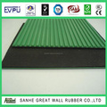AOTAI Rubber Fine ribbed anti-slip 65+/-5 shA 4mpa back fabric impression with 1PLY insertion flooring mat