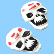 US SELLER -Resin Scary Skull Flatback Beads for Halloween Craft