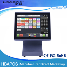 15 inch touch screen pos system terminal usb restaurant pos system