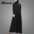 Low Price Hoodie Style Muslim Black Maxi Dress Casual Front Zipper Islamic Women Clothing Popual Arabic Clothes Jubah Online