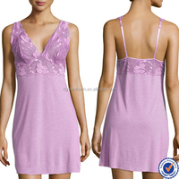 OEM pajama manufacturer lace trim ladies pajamas mature women's sleepwear