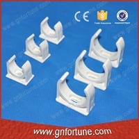 White Conduit Electric Clip Pipe PVC Tube Fittings