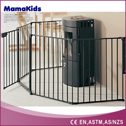 Metal Material Safety Retractable Baby Gate Pet Fence