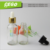 Wholesale and hottest selling clear glass bottle dropper, smoke oil dropper bottle manufacturers, glass eliquid bottle