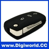 Car Remote Key Shell for Vw Golf Passat Polo Bora 3 Buttons Car Key Case