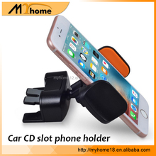 multi-function 2 in 1 car CD slot mount mobile phone holder 360-degree rotation car air vent cell phone holder stand