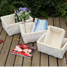 white storage basket natural wood boxes