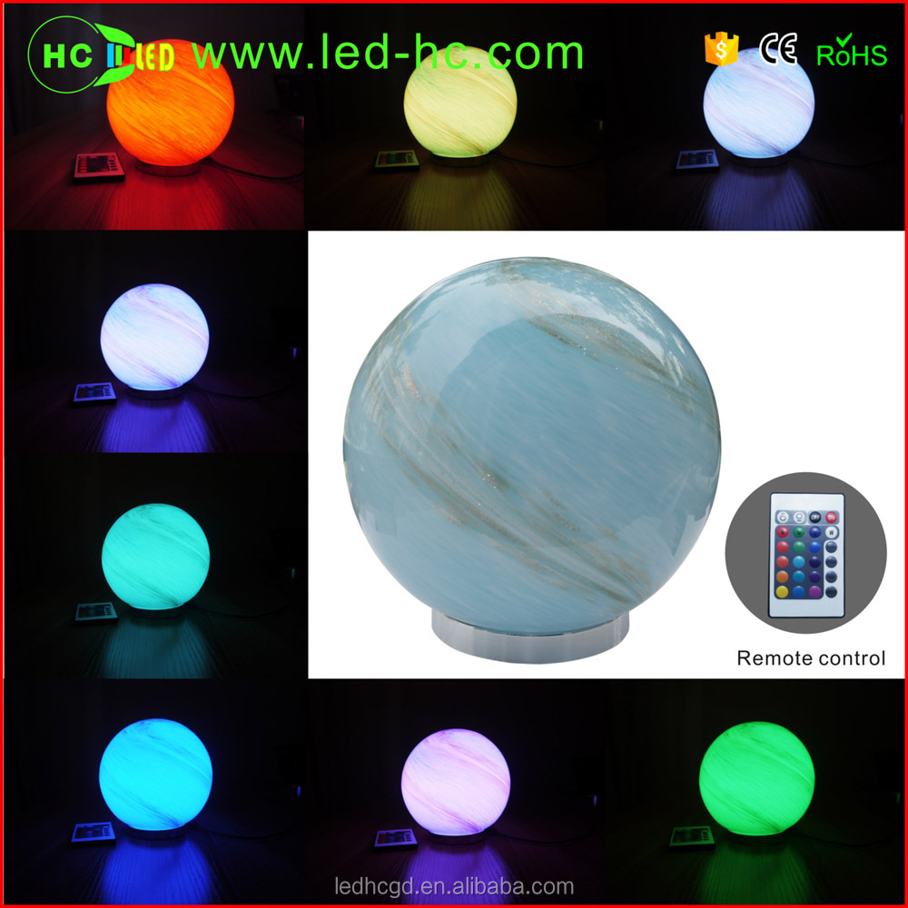 Rgb Led Color Changing Night Light Power Outlet Hand Blown