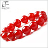 Men's Women's Energy Stone Red Agate Buddha Mala Beads Bracelet Link Wrist
