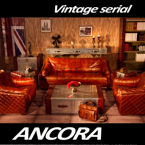 American style classical furniture Chesterfield sofa set A112
