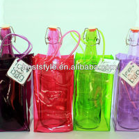 Wholesale durable EVA PVC plastic Wine cooler bag