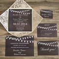 Chalkboard String Light Laser Cut Wedding Invitations