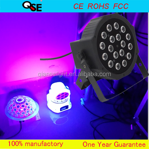 18*3w UV led stage light Led flat par light par64