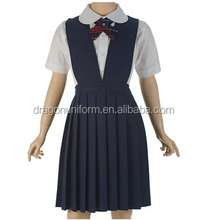 China primary school girls pinafore dress uniform