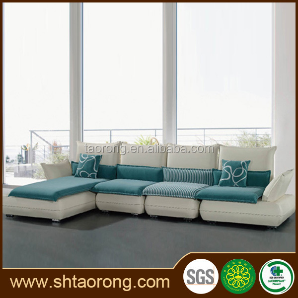 New design l shape wood frame office sectional sofa TRSO-855