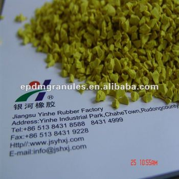 yellow EPDM Granules for Playgrounds surfaces