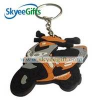 Hot selling personalized motorcycle pvc keyring/pvc keychain for promotion
